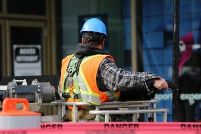 Construction Worker Looking Away