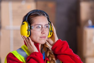 Woman Wearing Safety Gear