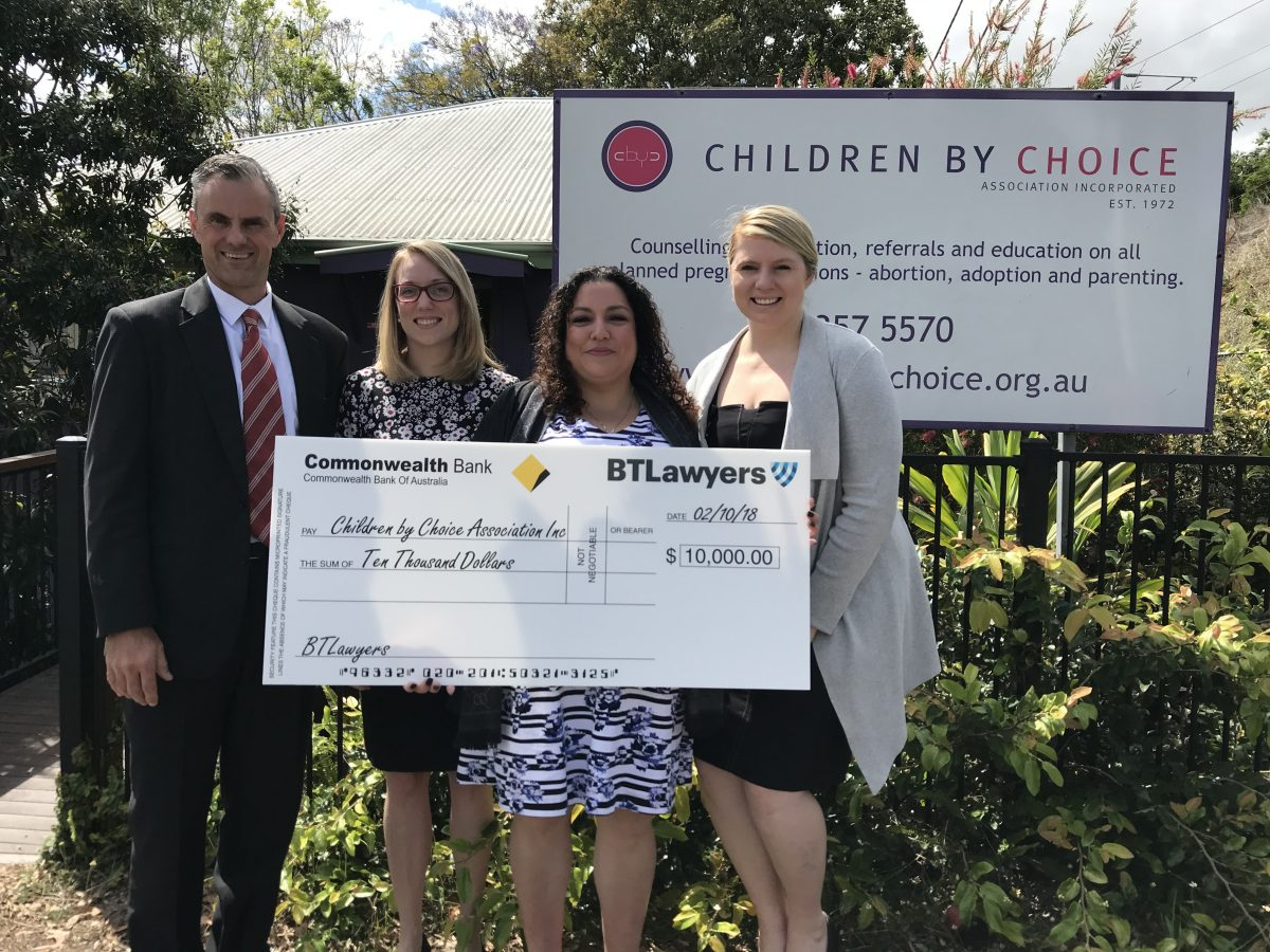 BTLawyers donation to Children by Choice