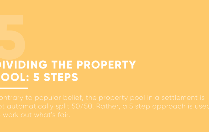 Dividing The Property Pool: 5 Steps