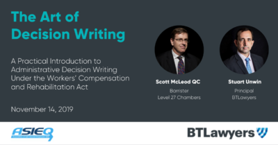 The Art of Decision Writing with Scott McLeod QC