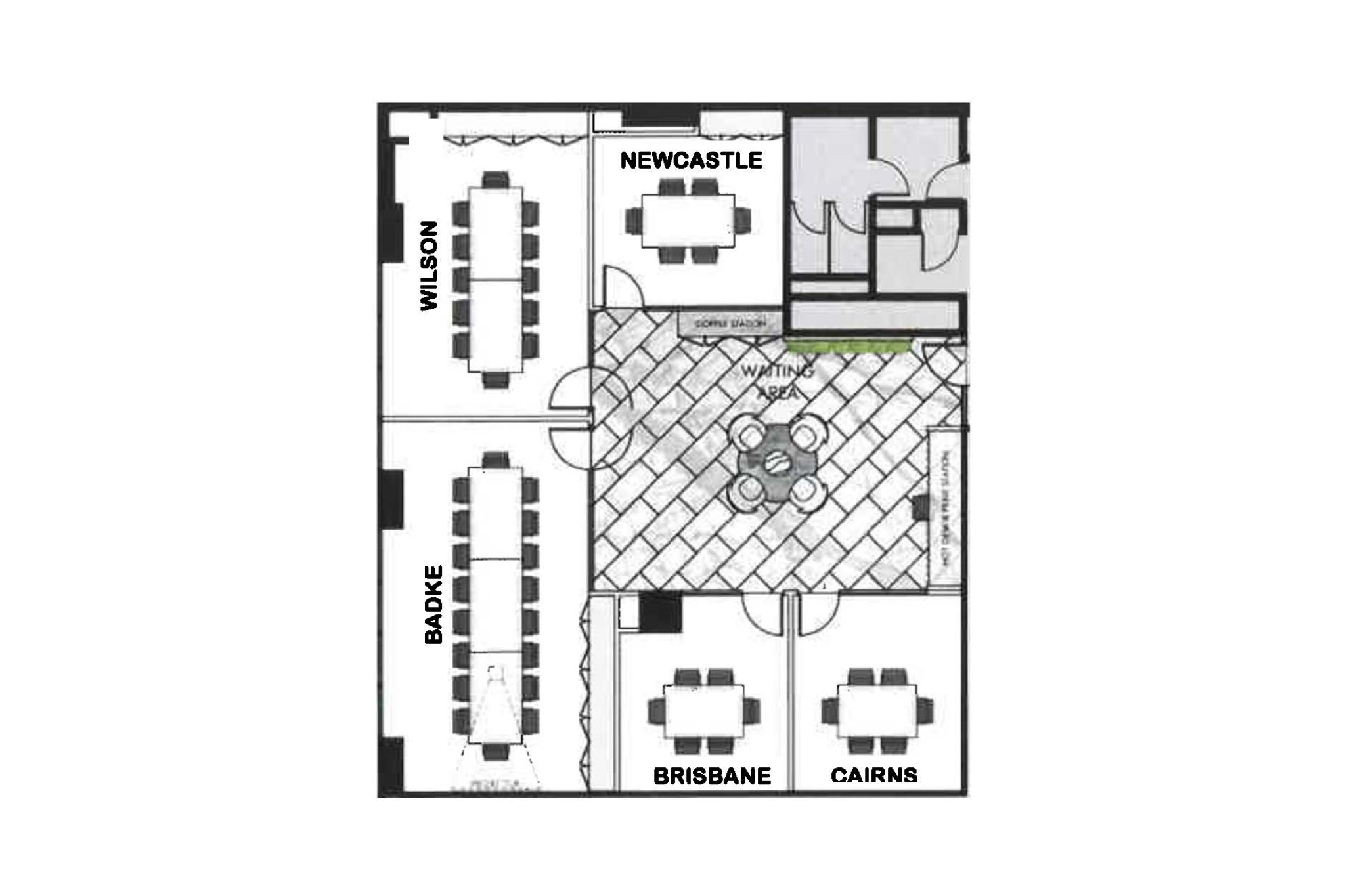 BTLawyers Level 25 Mediation Rooms Floor Plan