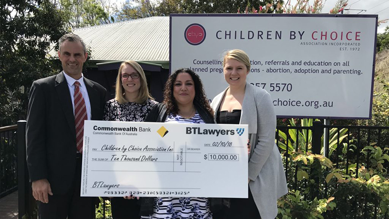BTLawyers donates $10,000 to Children By Choice