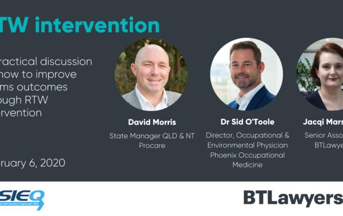RTW Intervention - BTLawyers