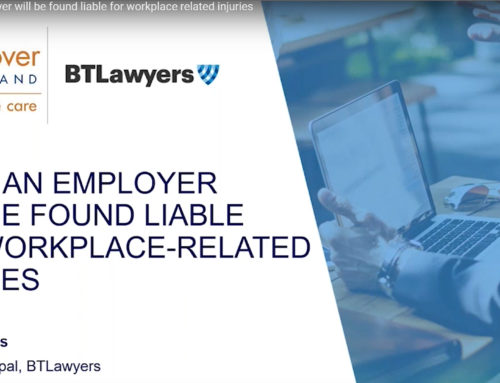 Video: When an Employer will be found liable for workplace-related injuries