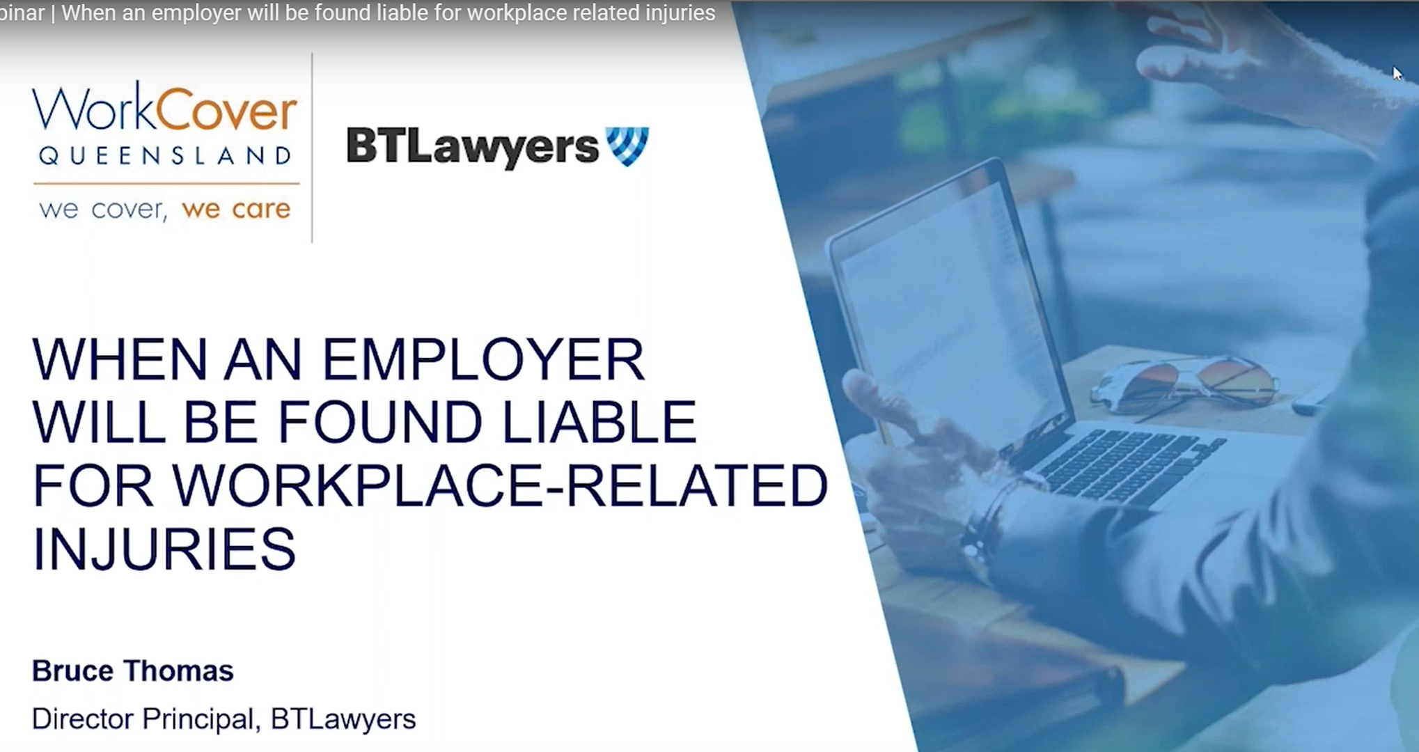 Video: When an Employer will be found liable for workplace-related injuries - BTLawyers