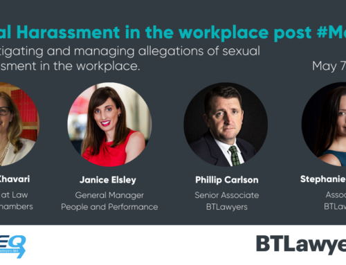 WEBINAR – Sexual Harassment in the Workplace Post #Metoo