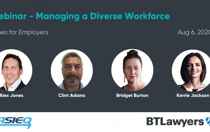 managing a diverse workforce - BTLaywers - ASIEQ
