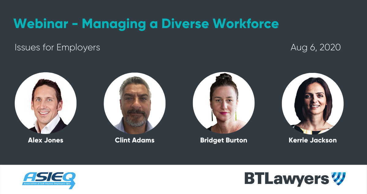 managing a diverse workforce - BTLaywers - ASIEQ